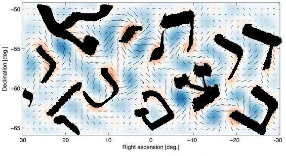 Hebrew letters in B-waves of cosmic background radiation
