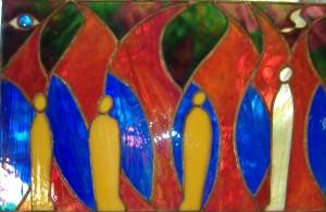 Chananyah, Mishael, Azaryah and the angel Gabriel