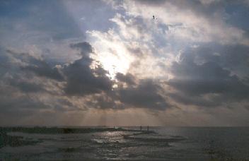 Afternoon sky in Israel