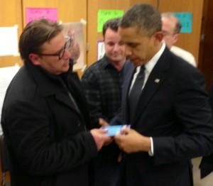 President Obama receives Noahide prayer booklet in Newtown CT