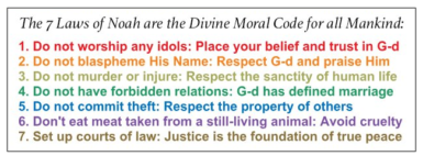 Seven Noahide Commandments
