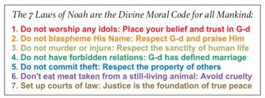 Seven Noahide Commandments