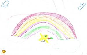 Noah's dove and the bright rainbow