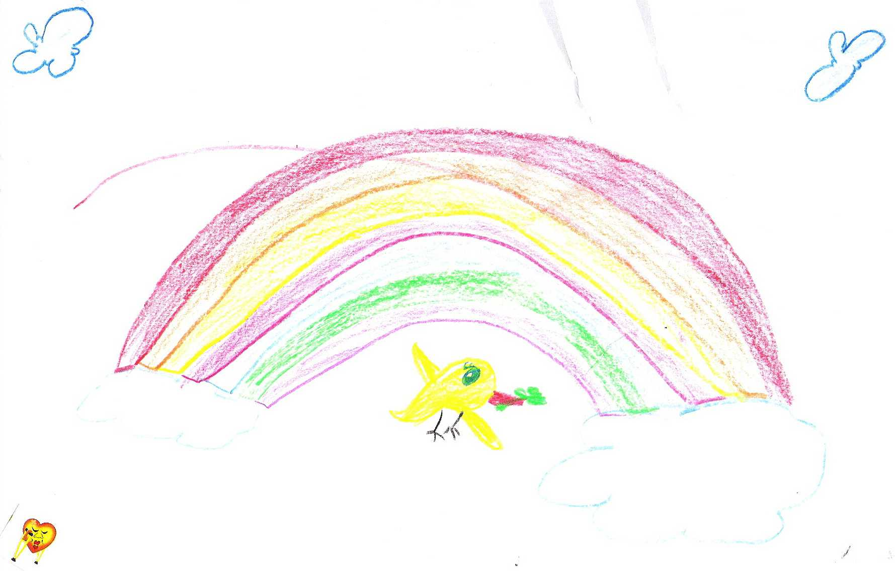 Noah's dove and the bright rainbow