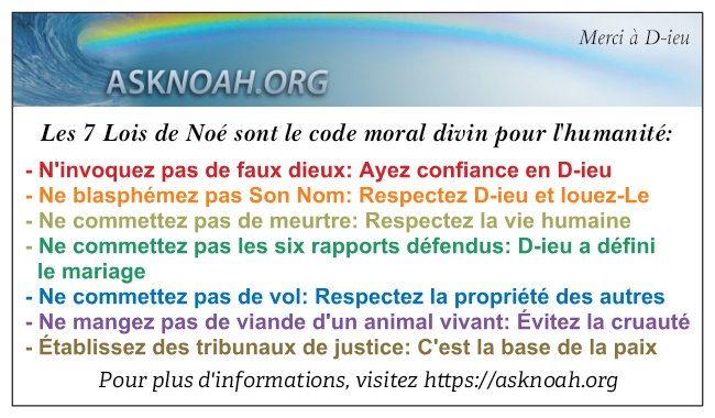 7 Laws of Noah in French