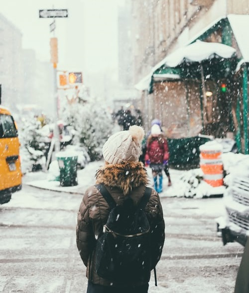 City street in December