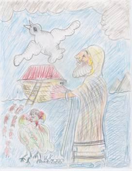 Noah brings the dove