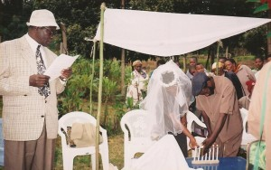 Wedding ceremony in Kenya Noahide community