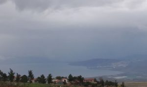 View of Lake Kinneret from the direction of Safed (Tzfat), Israel.