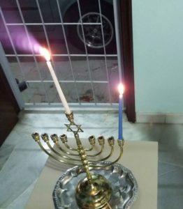 Hanukkah menorah in Malaysia