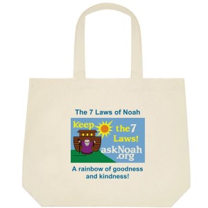 Deluxe tote bag - 7 Laws of Noah